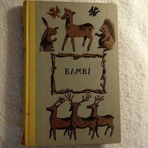 Vtg Book BAMBI 1929 Junior deluxe Edition